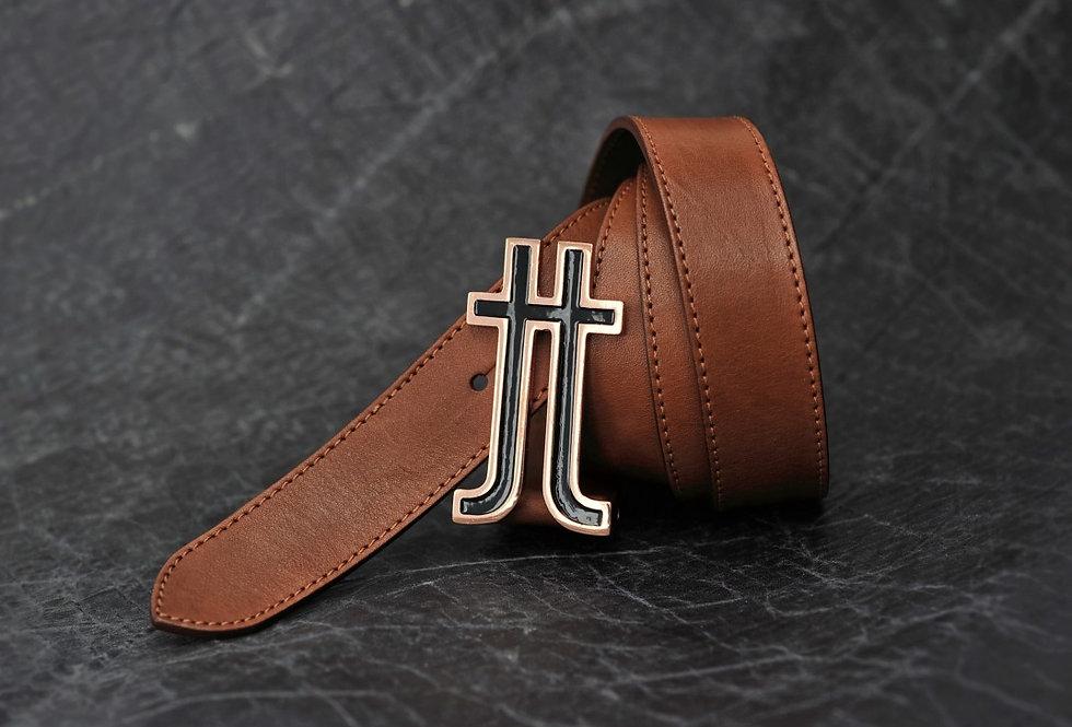 Brown Logo Belt