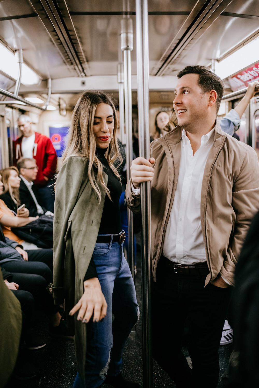 riding the subway car NYC