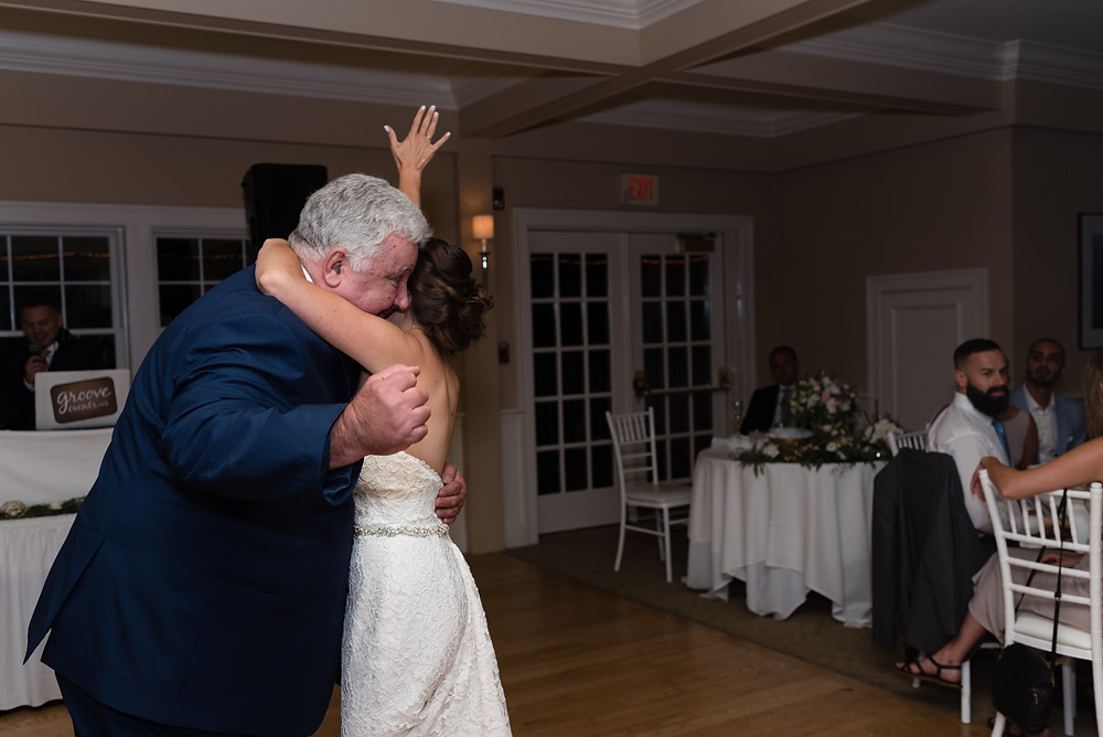 father daughter first dance at wedding at brookside country club