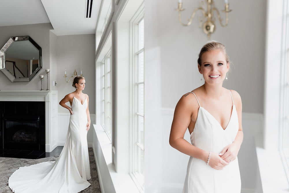 bridal portraits in chocksett inn ballroom