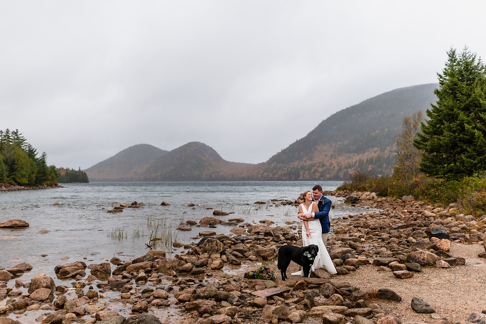 elopement photos at Jordan Pond in Acadia National Park in Maine