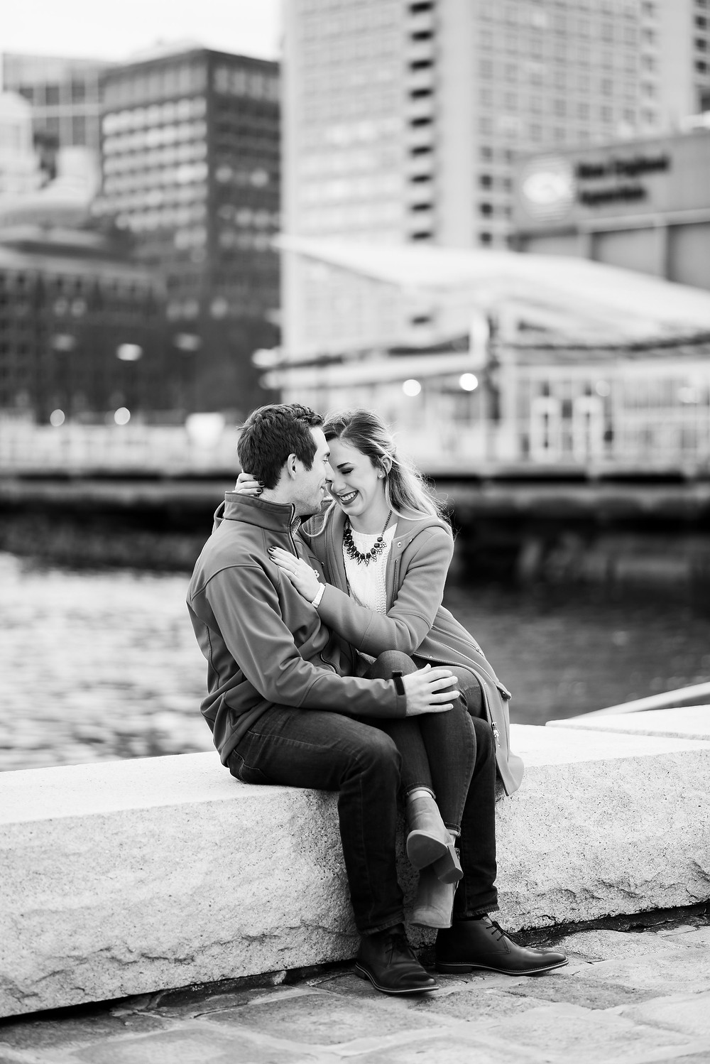 long wharf boston engagement session