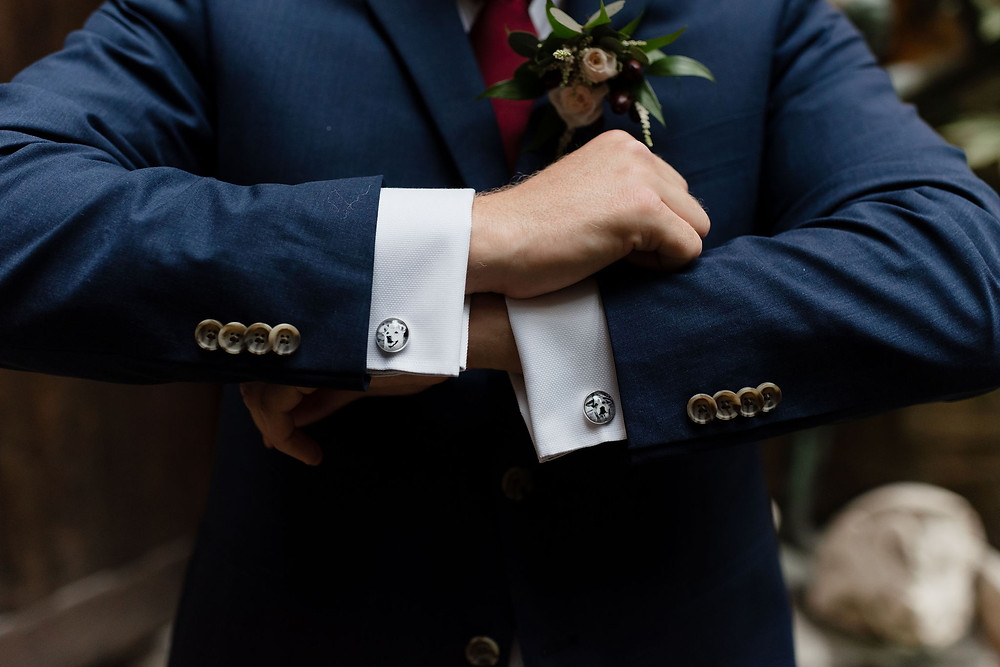 personalized cuff links with photos of dogs