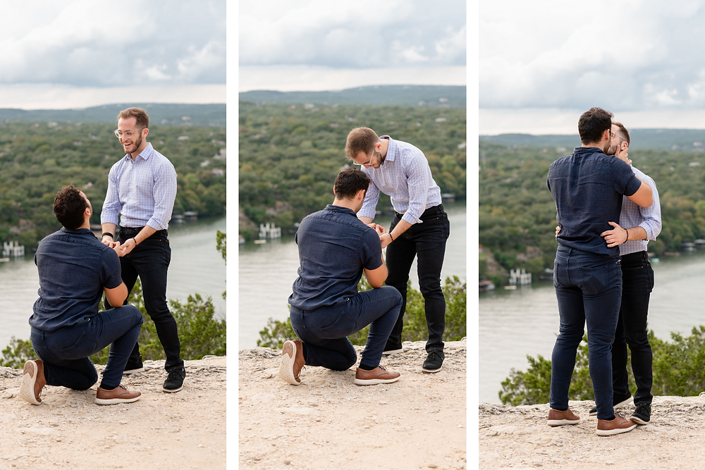 boyfriend's reaction to being proposed to
