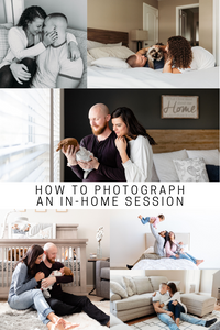 pinterest cover for how to photograph an in home session
