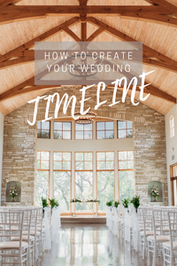 how to create your wedding timeline. cover photo for blog and pinterest created in canva