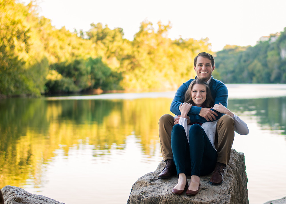 red bud aisle engagement session