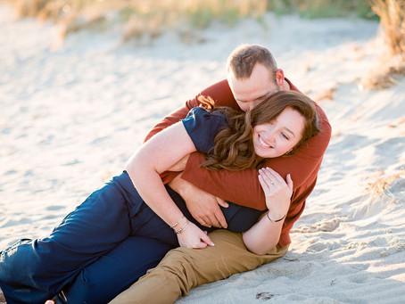 Cape Cod Beach Engagement at Lighthouse Inn | Massachusetts Wedding Photographer | Shelby & Alan