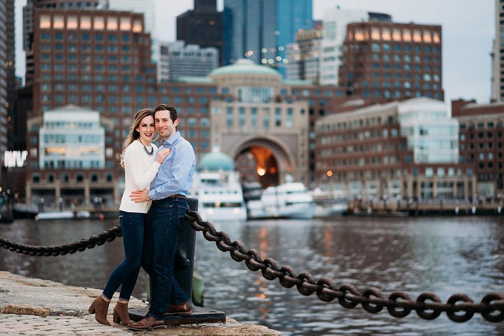 fan pier park and harborwalk engagement session