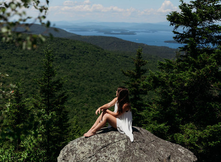 Mt. Major Inspired Bridal Session | New Hampshire Elopement Photographer