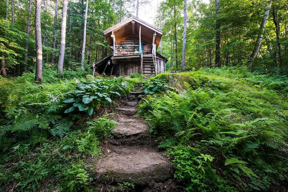 get off the grid for a getaway in the green mountains