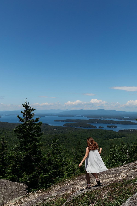 view from summit of mount major lake winnipesaukee