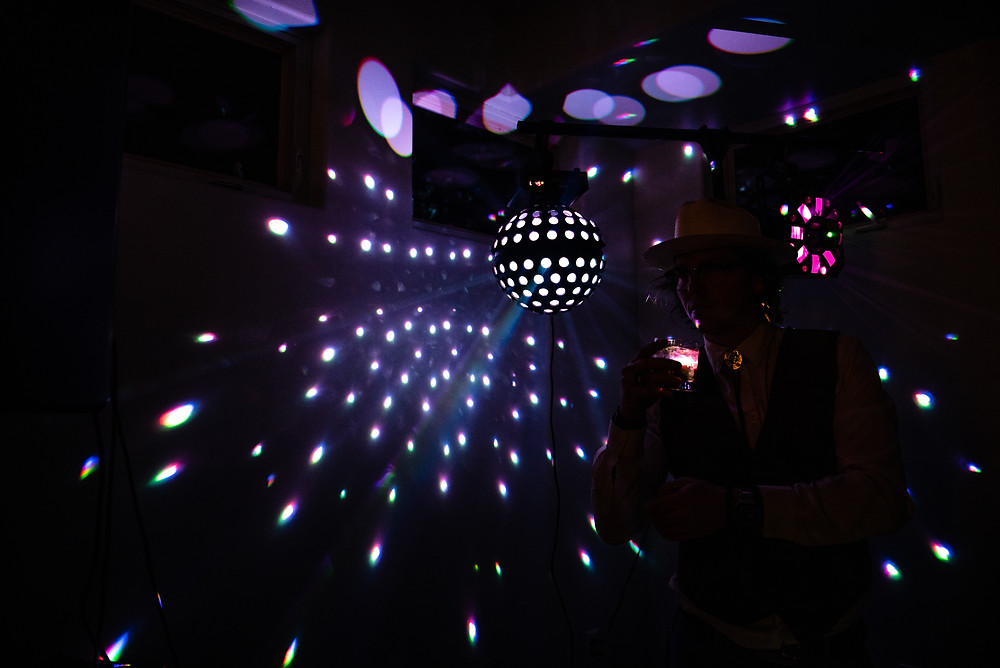 disco ball at wedding reception