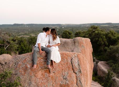 Enchanted Rock Elopement | Megan & Kalena