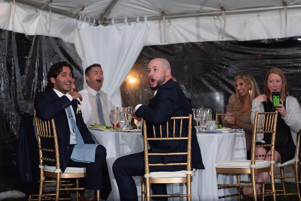 wedding guest reaction to speech