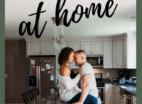 In-home Engagement Session | Unique Engagement Session | Ari + Jon