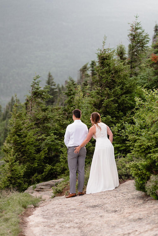 bride slaps groom's butt first elopement first look