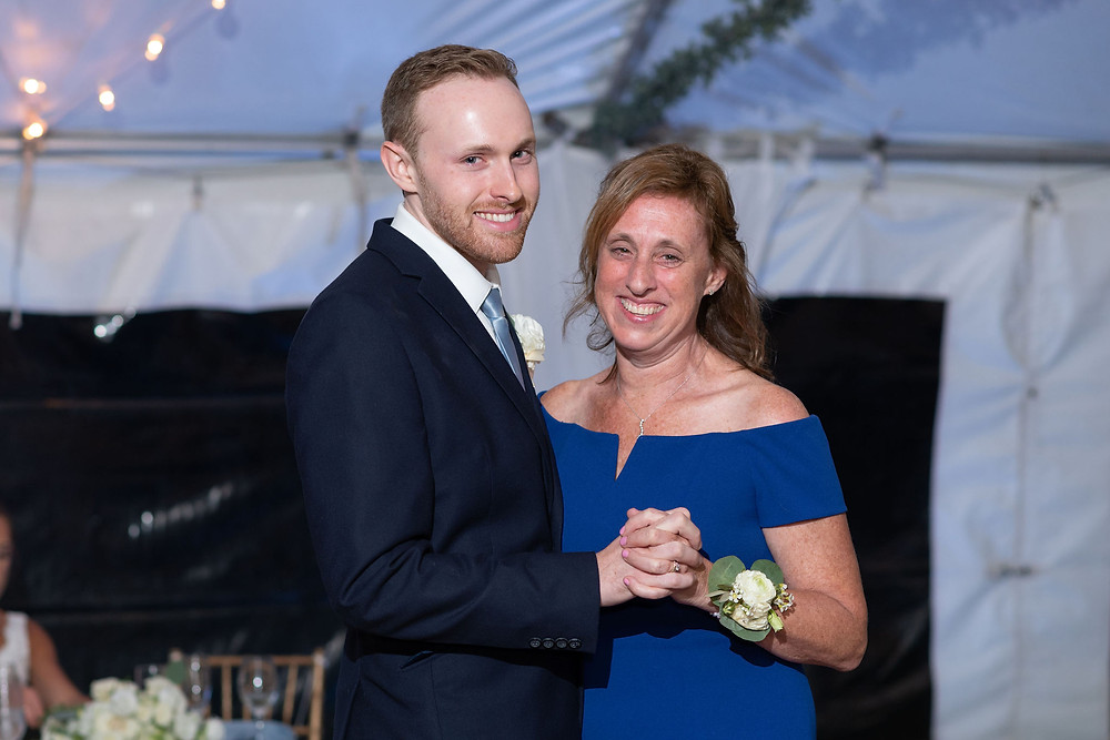mother son first dance during wedding reception