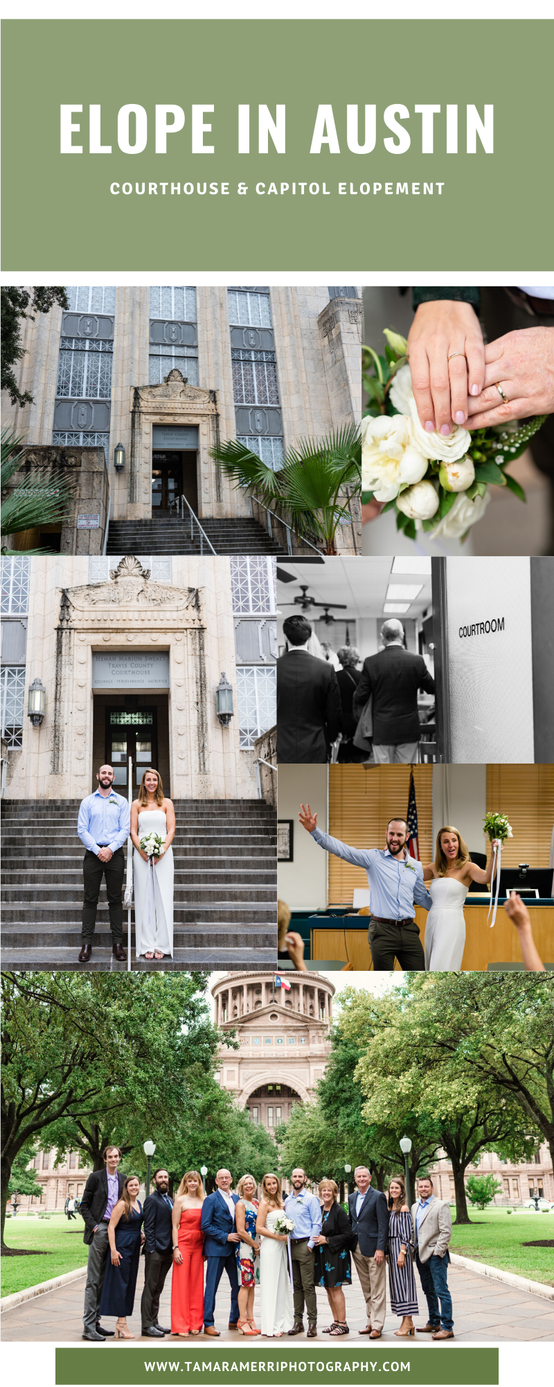 canva pinterest cover elope in austin at courthouse and capitol
