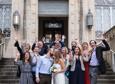 Travis County Courthouse &  Austin Capitol Elopement | Sophie & Brian