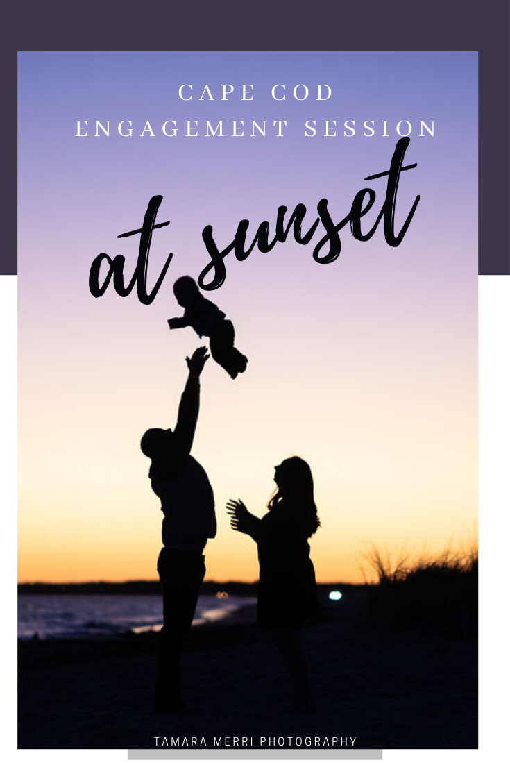 cape cod engagement session at sunset