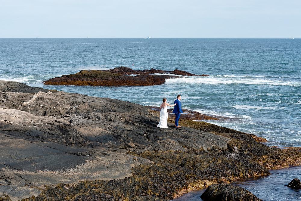 first look on the coast of Newport, Rhode Island