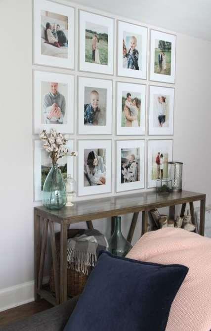 uniform, minimalist frame wall