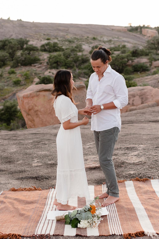 ring exchange during elopement