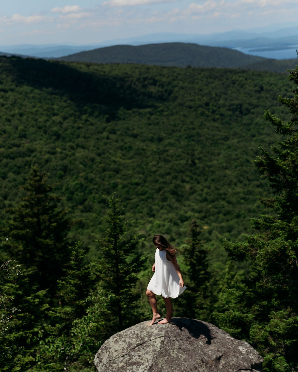 gorgeous mountain elopement view on summit of mt major