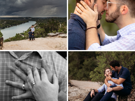 Nick and Joaquin's Mount Bonnell Proposal