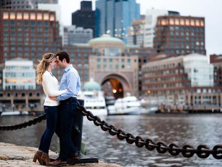 Winter Boston Seaport Engagement Session