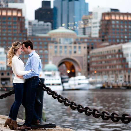 Winter Boston Seaport Engagement Session