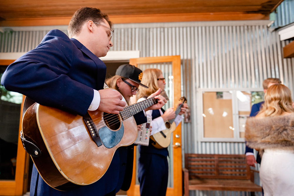 groomsmen with guitar