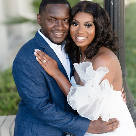 Formal Engagement Session | Shakeara & Ro'Myrus | First United Methodist Church