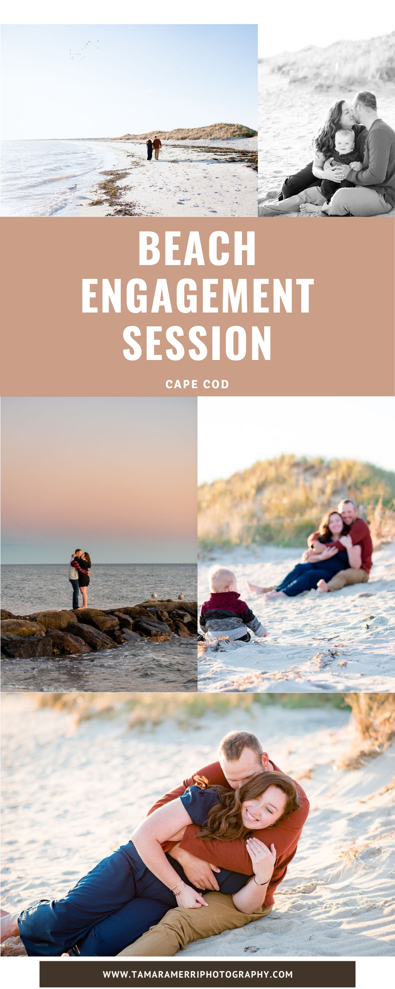 beach engagement session in cape cod