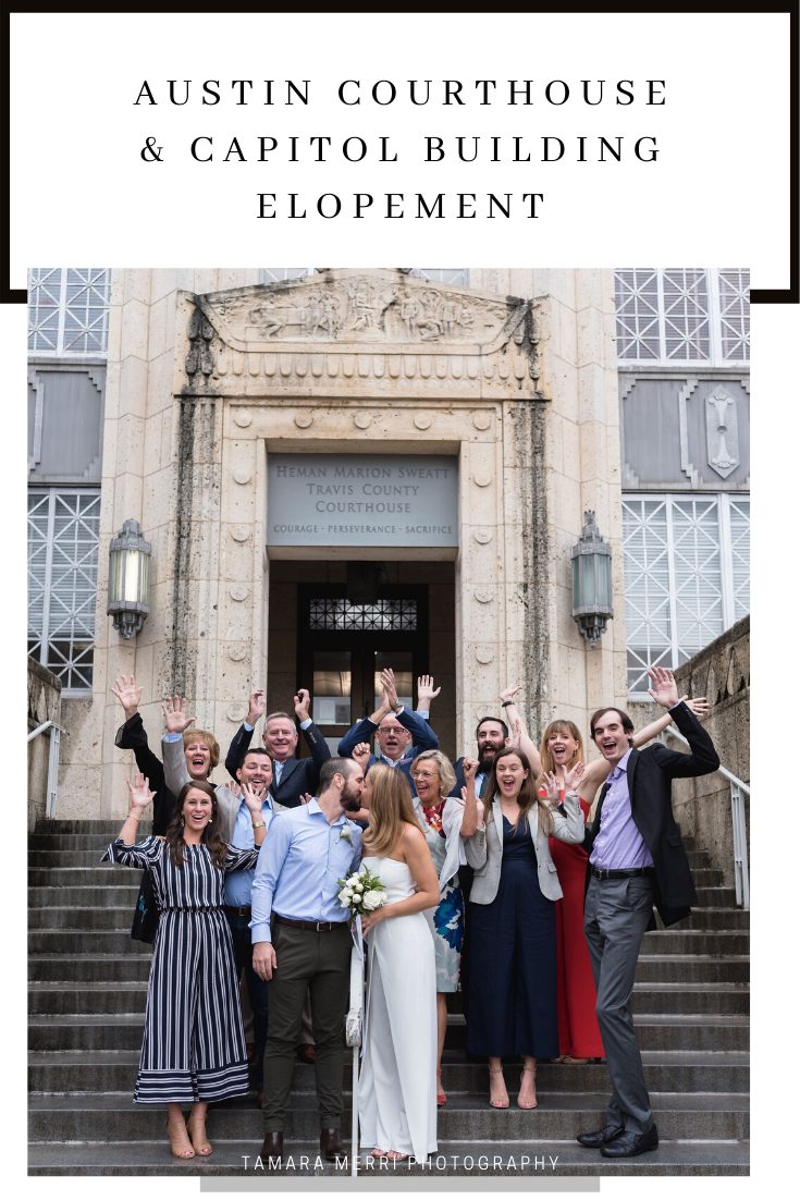 canva pinterest cover austin courthouse & capitol building elopement