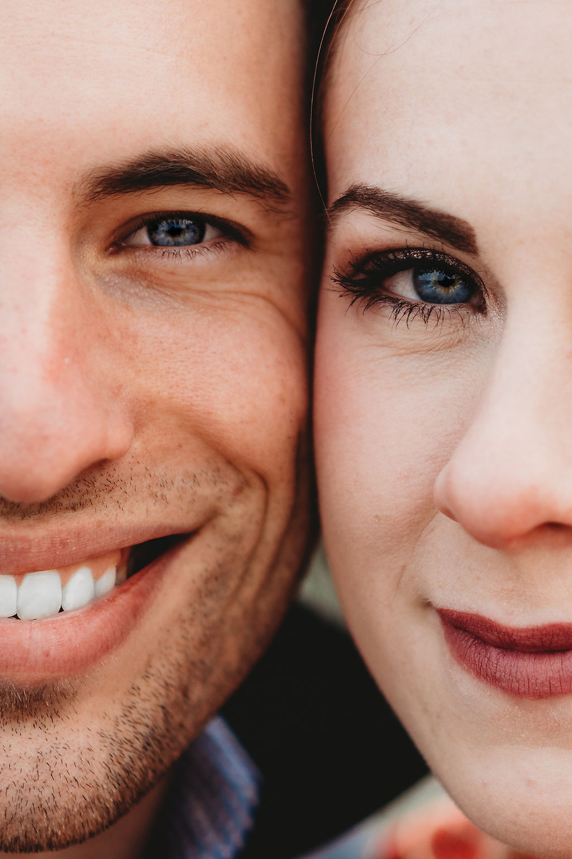 macro eye shot during engagement session