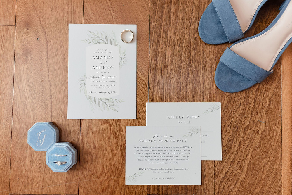 flat lay invitation suite wedding detail photo