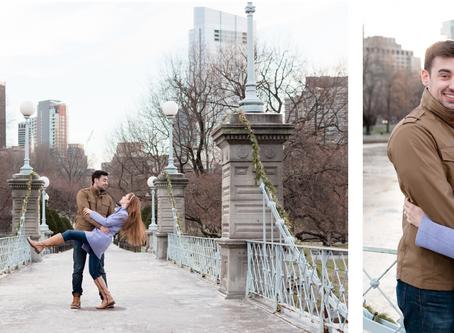 Boston Public Garden Engagement | Massachusetts Wedding Photographer