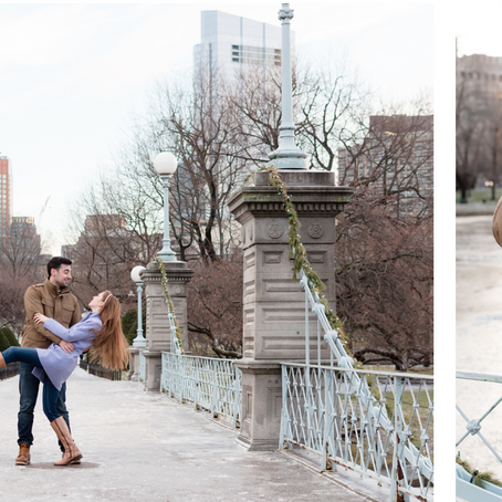 Boston Public Garden Engagement | Massachusetts Wedding Photographer