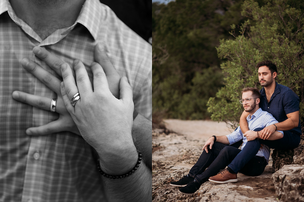 engagement photos for two grooms