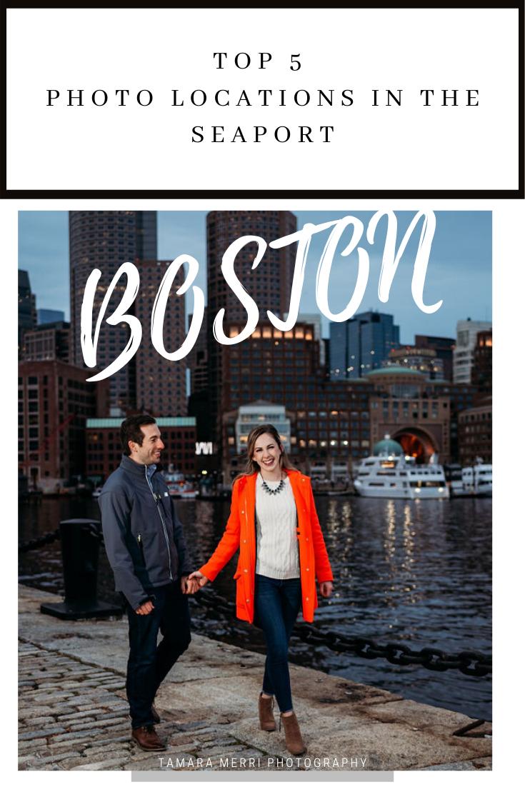pinterest boston seaport engagement session cover