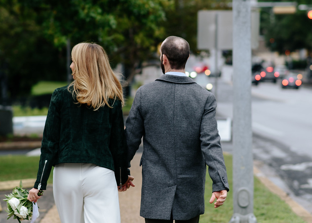 walking to austin capitol building during elopement