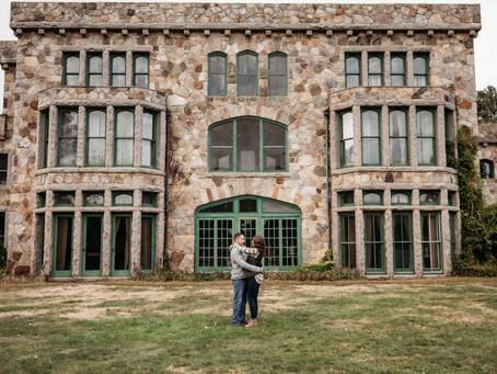 Borderland State Park Engagement Session | Lindsey & Dave