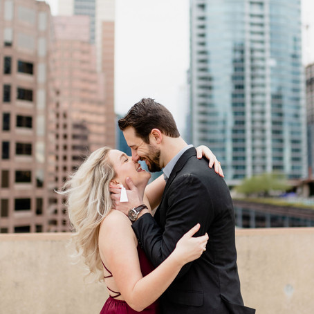 Urban Rooftop Engagement Session | Downtown Austin Photo Shoot | Tamara Merri Photography
