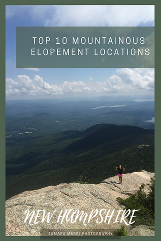 Top 10 mountain elopement locations in new hampshire