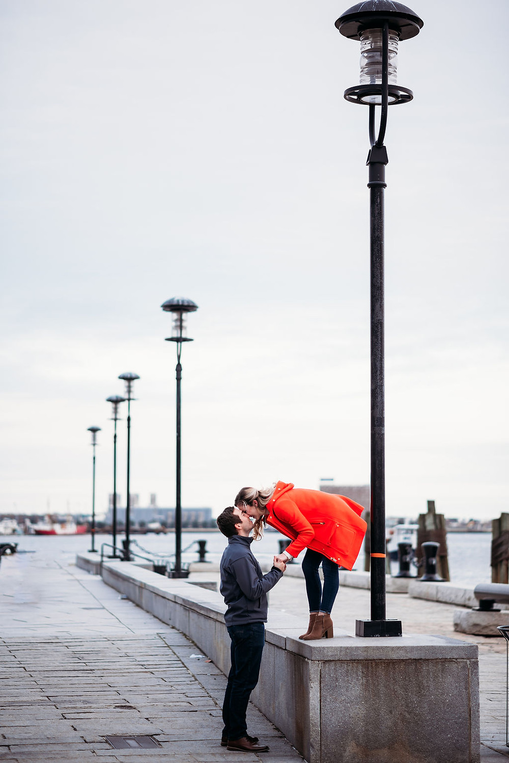 compass rose and long wharf engagement session