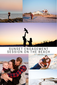 sunset engagement session on the beach