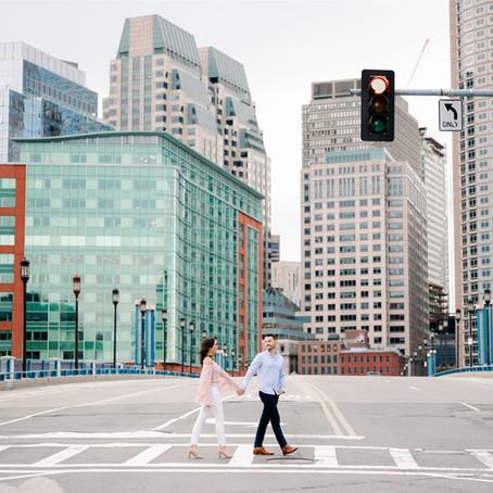 Boston Seaport Engagement Session | Jocelyn & Eric