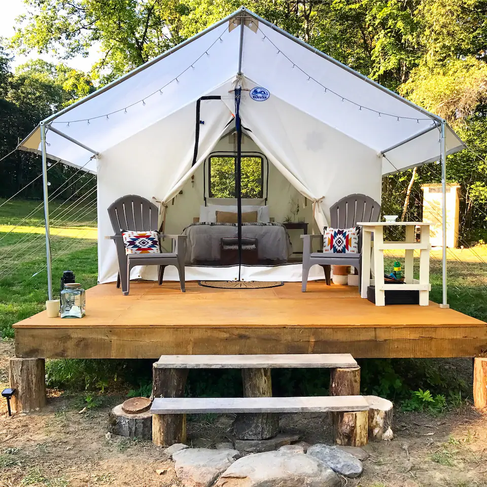 glamping in new hampshire